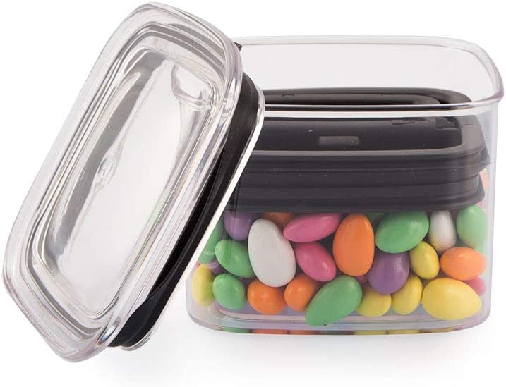 Airscape Lite Plastic Airtight Food Storage Canister - Patented Airtight Lid Preserves Food Freshness, Clear, Small 4-Inch: Food Savers: Kitchen & Dining