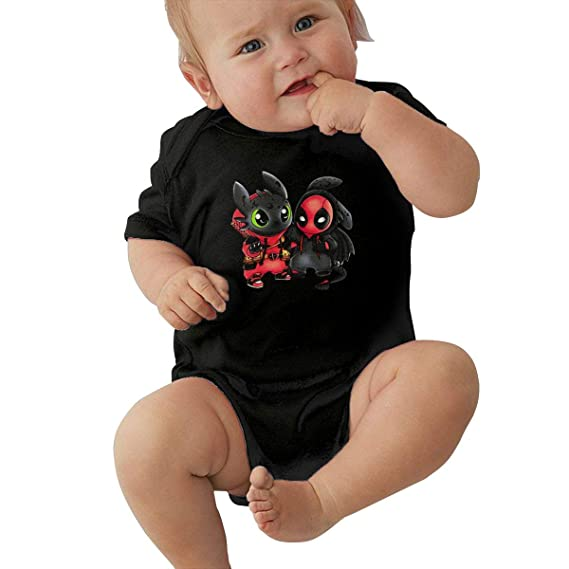 How to Train Your Dragon Simple Cute Toddler Baby Onesies Cotton Short Sleeve Bodysuit for Unisex