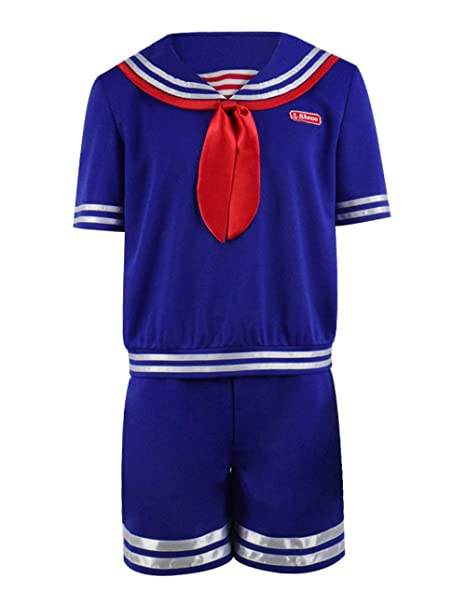 Amazon.com: Steve Costume Sailor Traje de Halloween Cosplay ...