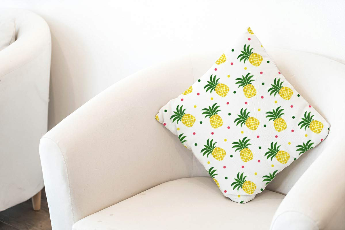 wanzhan Decorative Bohemian Throw Pillow Cover Cushion Pillowcase for Bed Chair Sofa Bedroom Couch Livingroom Square 18 X 18 Inches 2 Pack