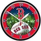 """BOSTON RED SOX 12"""" Team Colors & Logo Round WALL CLOCK"""