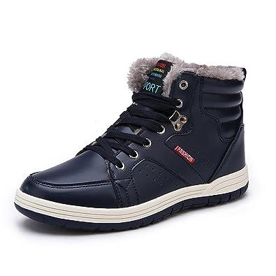 Eagsouni® Homme Chaussures de Randonnée Bottes Hiver Neige Cheville Boots  Chaudes Fourrure Antidérapage Amazon.fr Chaussures et Sacs