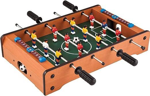 Mesa de futbolín superior para adultos y niños Mini juego de fútbol de mesa compacto portátil para adultos, Salas recreativas, arcadas, bares, noche familiar: Amazon.es: Hogar