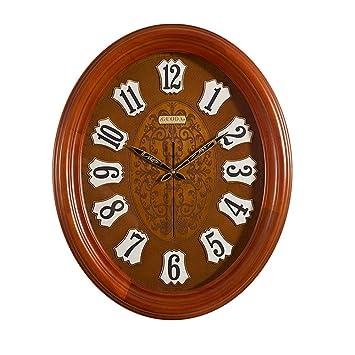 Xue-clock Sala de Estar Creativa Reloj de Pared Vintage Madera Maciza Pared Colgante Oficina Relojes Villa Grande Reloj de Pared HM,B: Amazon.es: Hogar