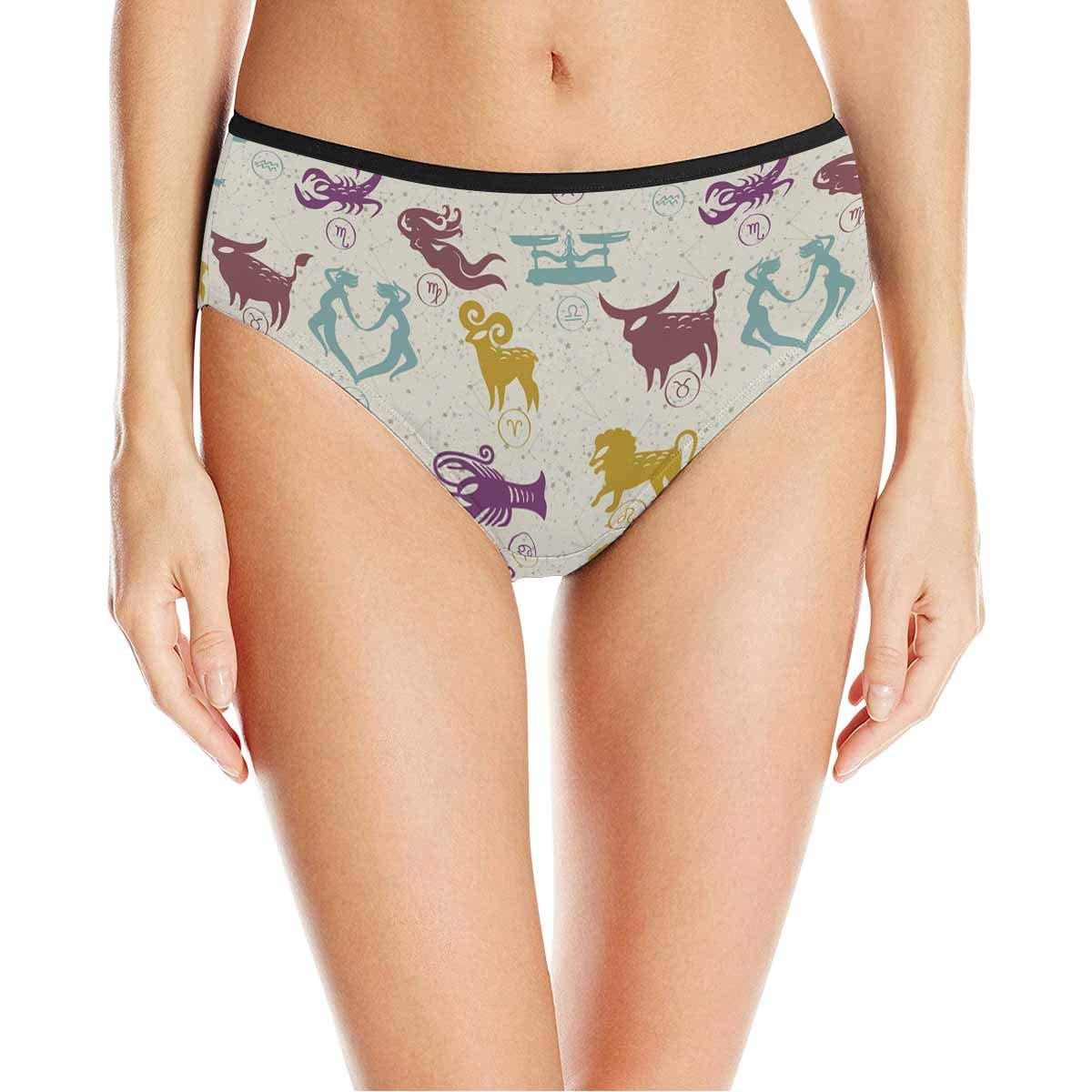 XS-3XL INTERESTPRINT Womens High Waist Underwear Soft Panties