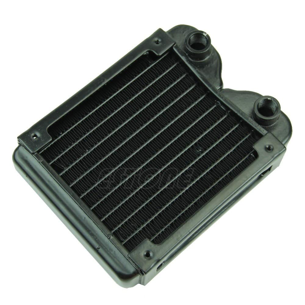 HEASEN Aluminum G1//4 120mm Computer Radiator Water Cooling Cooler for LED CPU Heatsink Fans /& Cooling System
