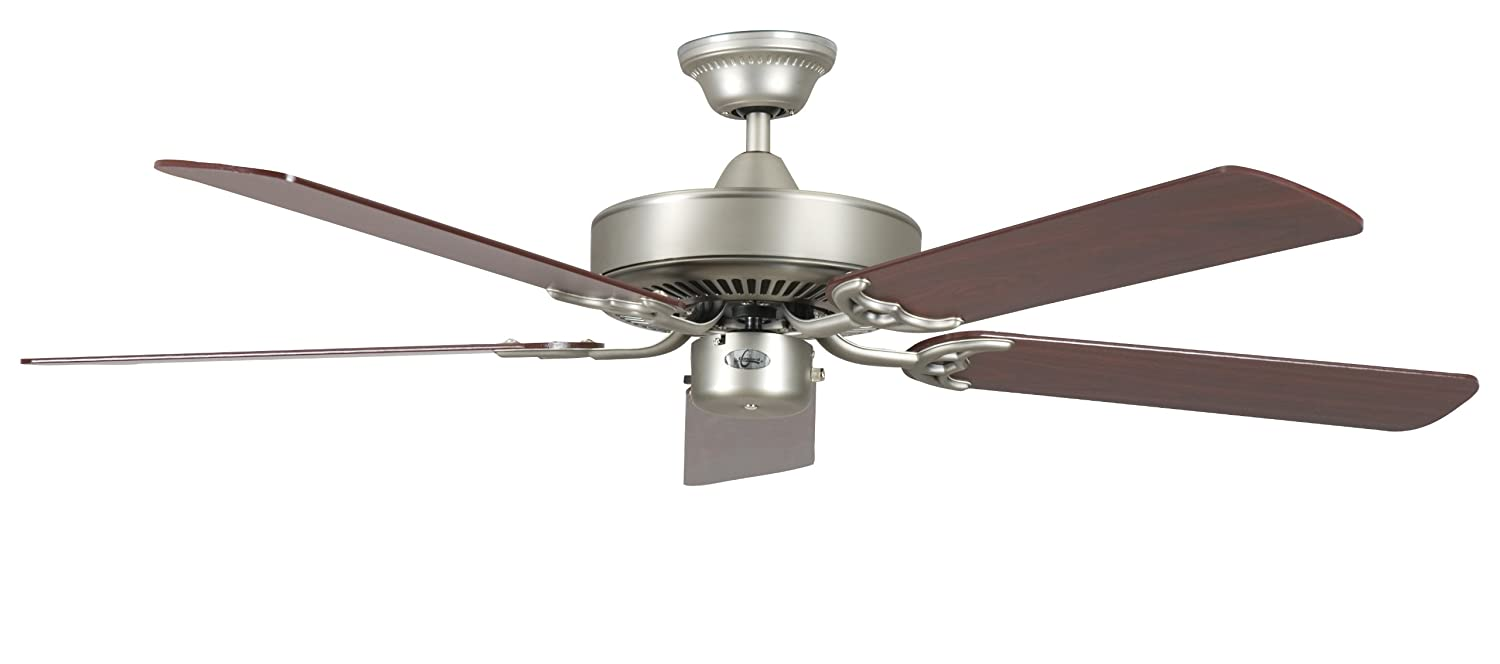 Concord Fans 52CH5SN 52 Inch California Home Collection Ceiling Fan – Satin Nickel