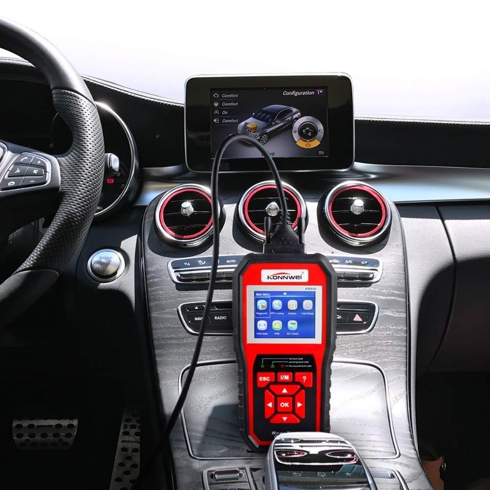 Outil de diagnostic de moteur de v/éhicule du lecteur de code du lecteur KW850 de scanner de code dOBD2 professionnel EOBD for toutes les voitures de protocole dOBDII et de CAN depuis 1996