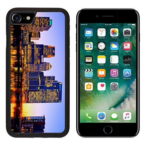 iPhone 7/7s Metal Phone Case,MSD Bumper Custom Alum Case Design for city skyline skyscraper night architecture downtown cityscape modern water usa river urban business tower - Downtown Water Tower