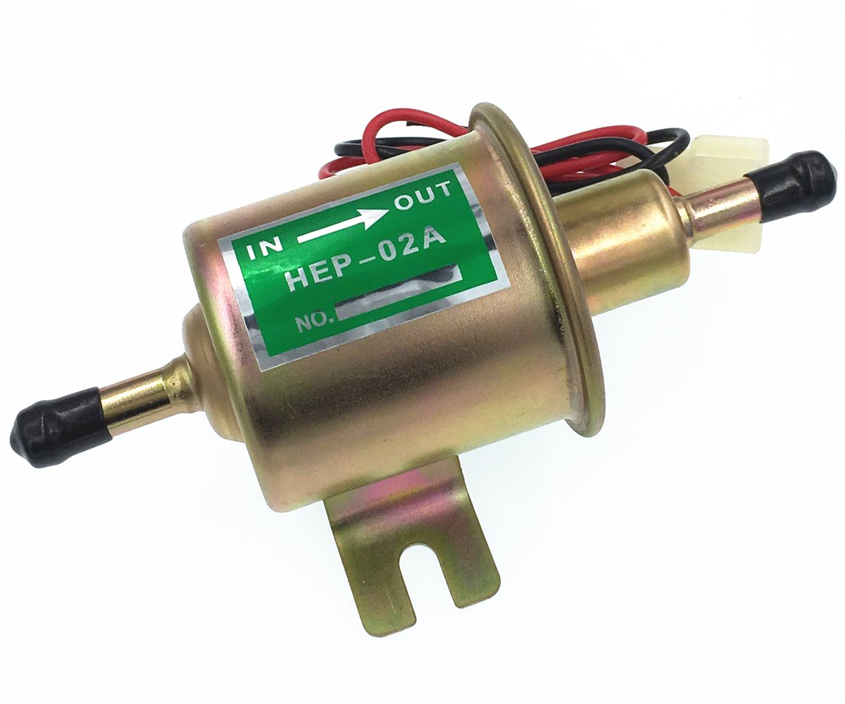 HZTWFC Universal Diesel Petrol Gasoline 12V Electric Fuel Pump HEP-02A HEP02A Low Pressure Compatible for Most Car Carburetor Motorcycle ATV