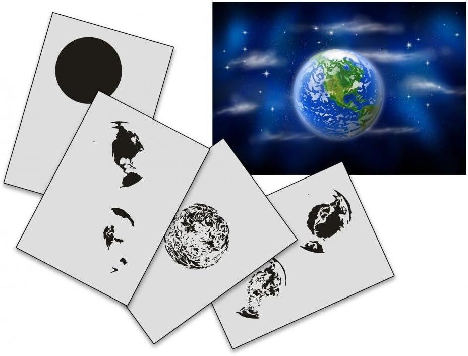UMR-Design AS-161 Earth Pochoir pour A/érographe Step by Step Size S