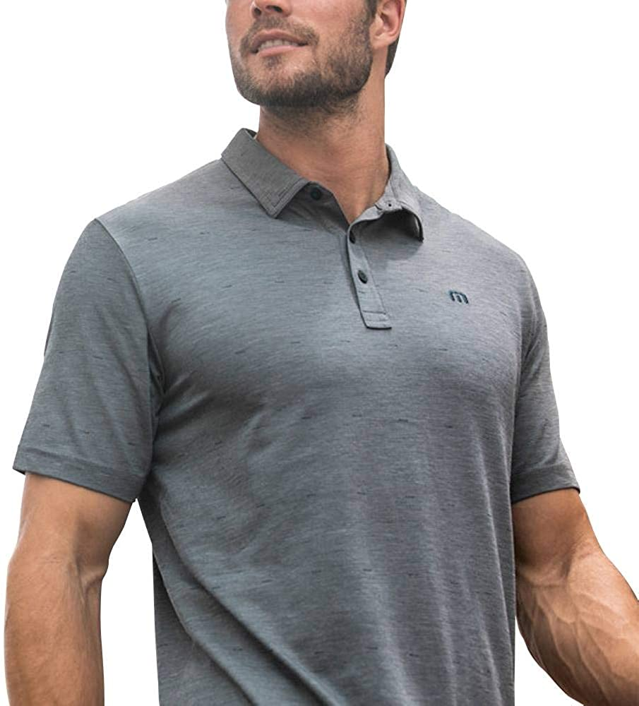 TravisMathew I Know Huh Polo X-Large Alternate Black//Sleet