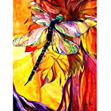 HuaCan Diamond Painting DIY 5D Full Square Drill Crystal Rhinestone by Number Kits Embroidery Pictures Arts Craft for Home Wall Decor Dragonfly 45x60 cm