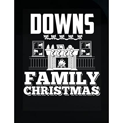downs family christmas sticker