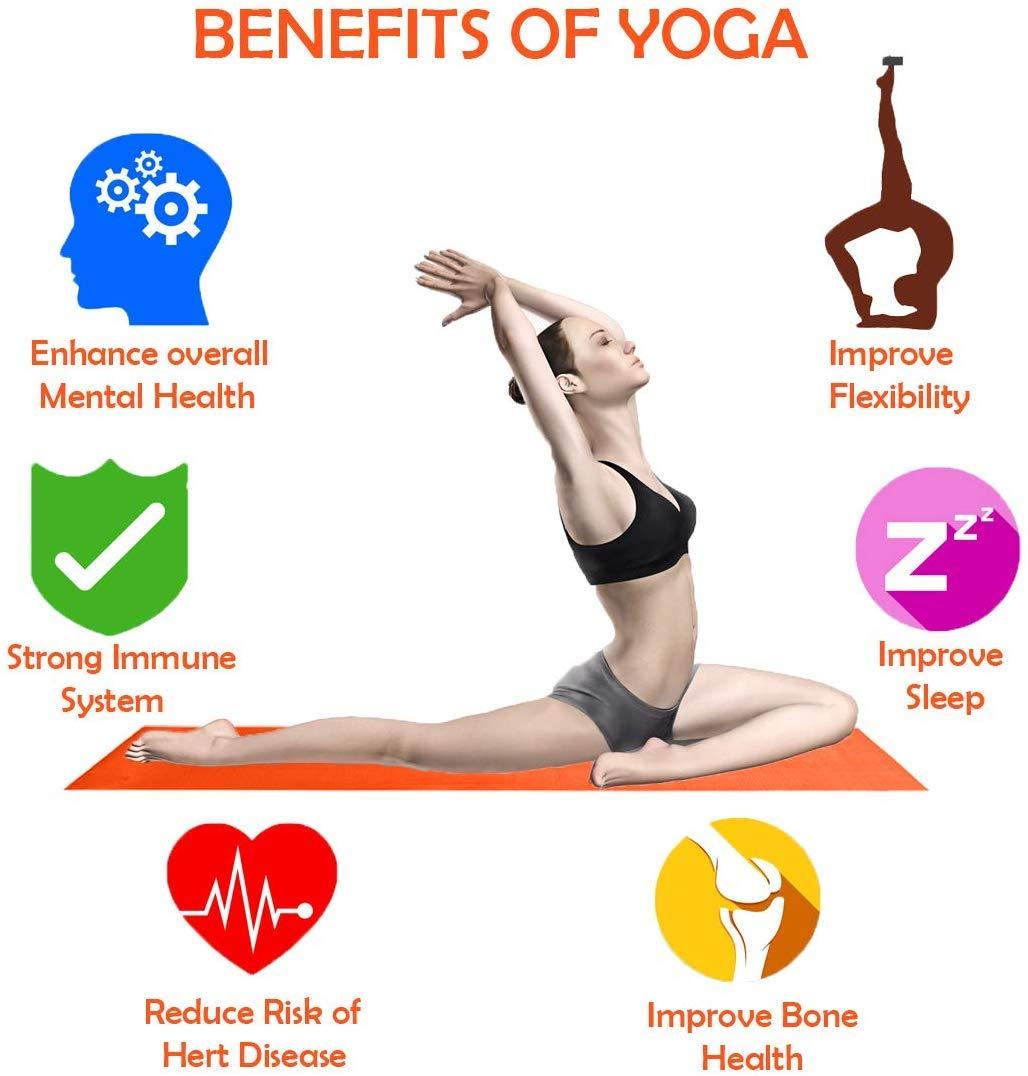 Esterilla para yoga de 6 mm, extrasuave, antideslizante para ...