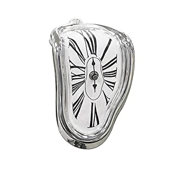 Decorativo Dali Watch Melting Clock - Surrealista Estante de mesa Escritorio Moda Reloj Salvador Dali inspiró