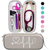 BOVKE Travel Carrying Case for 3M Littmann Classic III, Lightweight II S.E, MDF Acoustica Deluxe Stethoscopes - Extra Room fo