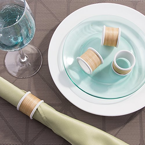 InterDesign RealWood Napkin Rings for Home, Kitchen, Dining Room - Set of 4, White/Light Wood Finish by InterDesign (Image #2)