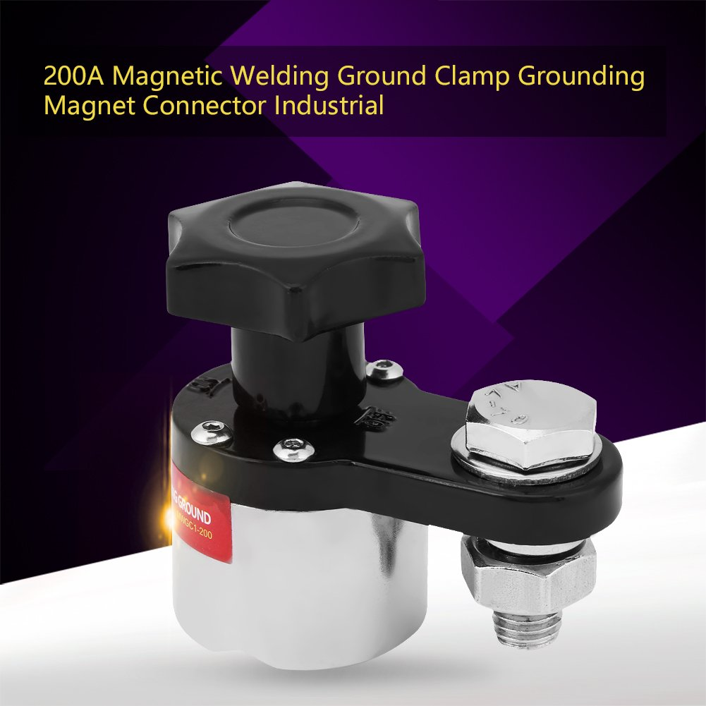200A Welding Ground Clamp Grounding Magnet Connector Industrial Welding Machine Accessories Magnetic Welding Ground Clamp