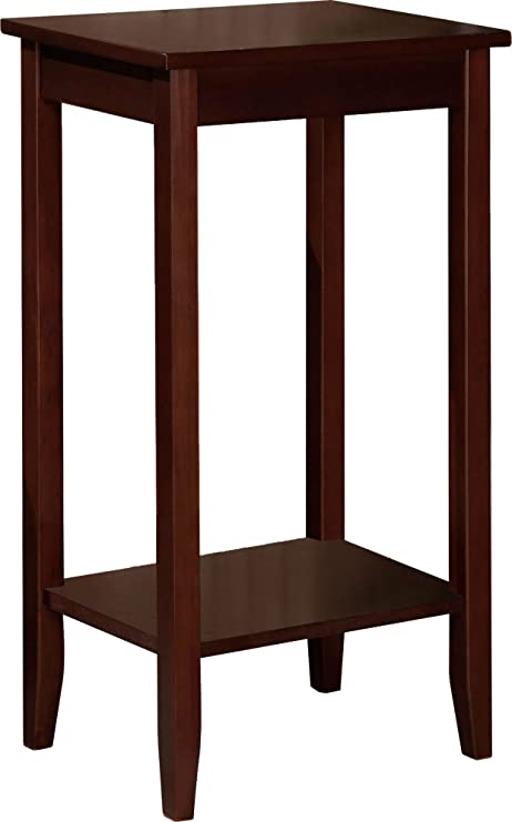 simple furniture small. DHP Rosewood Tall End Table, Simple Design, Multi-purpose Small Space Furniture E