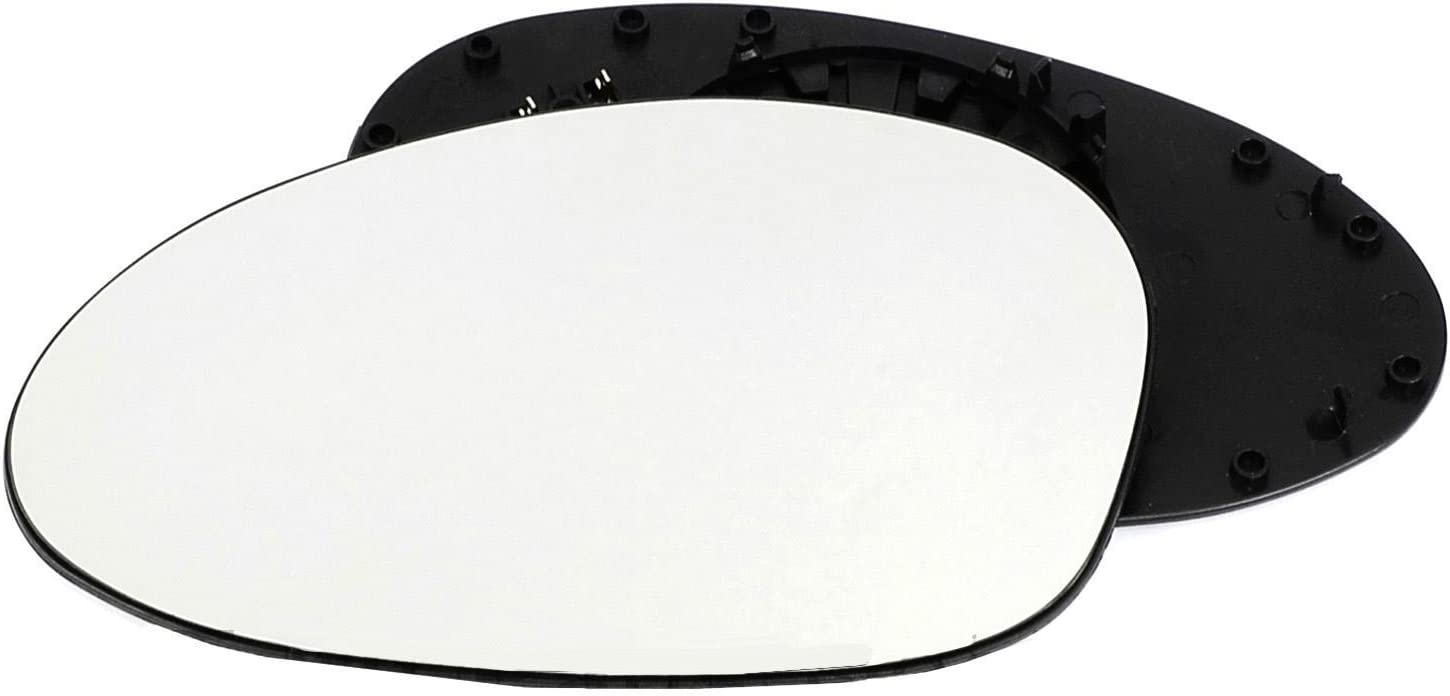 Passenger left hand side Heated wing door Silver mirror glass with backing plate #C-SHY//L-BWE9005 Clip On
