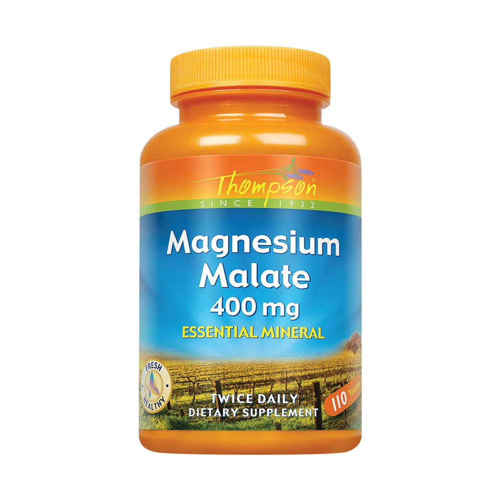 Thompson Magnesium Malate Tablets, 400 Mg, 110 Count