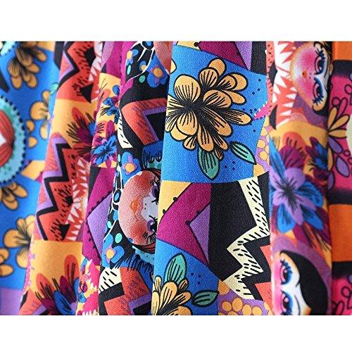 Élégantes Mode Taille Été Haute Boho Loisirs Confortable Décontracté 2 Beach Couleur Inondée Battercake Large Pantalons Pour Harem Femmes Vintage Plume PwRxqIA
