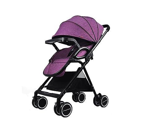 XnZLXS-Cochecitos Paisaje Alto Carrito para bebés Ultraligero Plegable Paraguas Carro para niños Carro de