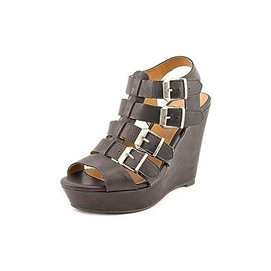 e398ab75d5a Amazon.com   Madden Girl Kloverrr Women US 6 Black Wedge Sandal ...