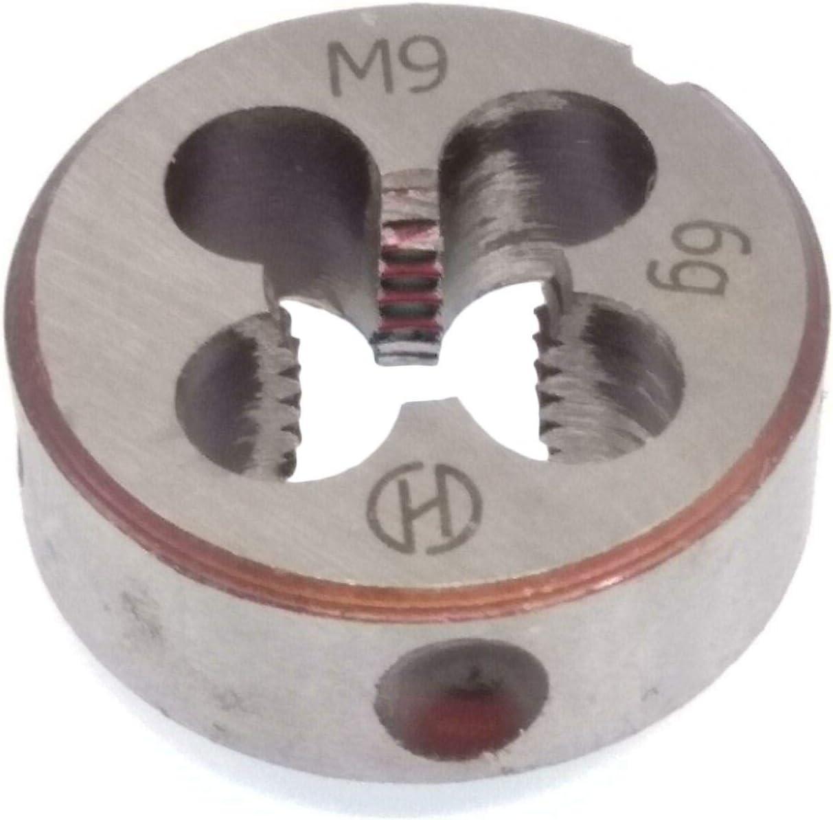 Yodaoke HSS 9mm x 1.25 Metric Die Right Hand Thread M9 x 1.25mm Pitch