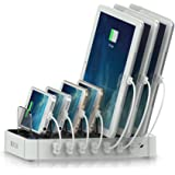 Satechi 7-Port USB Charging Station Dock for iPhone X, 8 Plus, 8, iPad Pro, Air, Mini, Samsung Galaxy S8, Nexus, HTC and more (White)