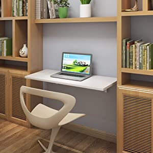 "Need Fold Down Wall Mount Desk Heavy Duty Small Folding Wall Table Length 36"" Width 20"" Perfect Addition to Home Office/Laundry/Home Bar/Kitchen & Dining Room AC15DW(9050)"