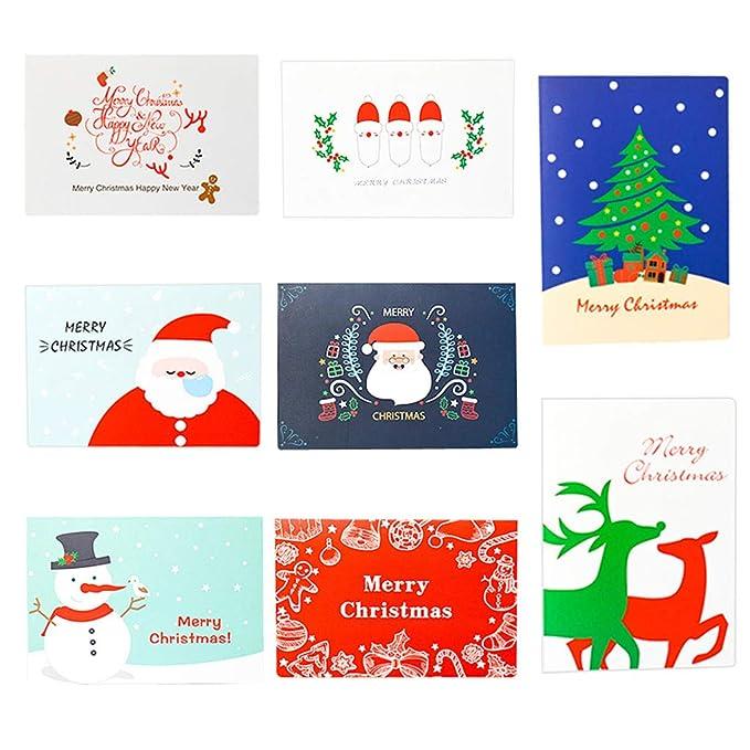 Amazon.com: 8 tarjetas de felicitación de Navidad con sobre ...