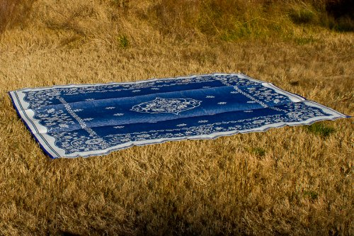 Camco 42851 Oriental Awning Leisure Mat-Blue 9' X 12'
