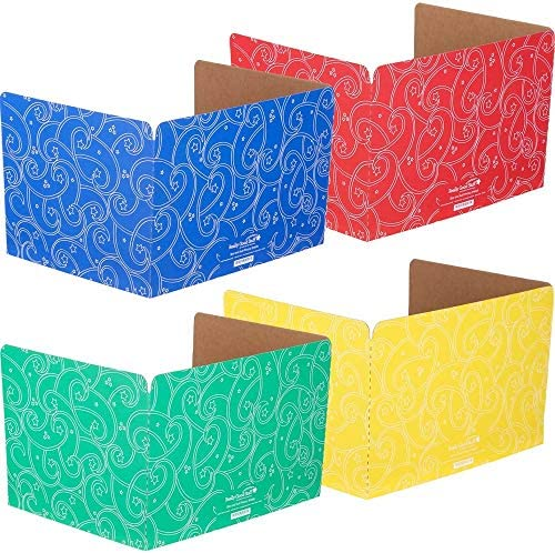 [해외]Really Good Stuff Group Color Privacy Shields 4 Colors 4 Cover case 투명 / Really Good Stuff Standard Privacy Shields - Set of 12 - 4 Group Colors for Classroom Testing - Star & Swirl