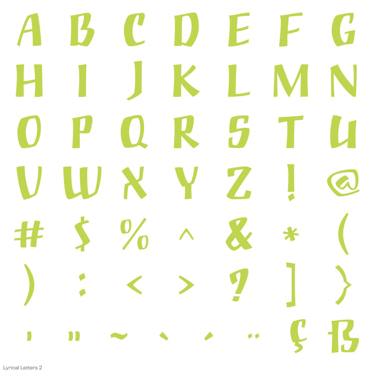 Cricut Lyrical Letters 2 Cartridge by Cricut (Image #23)