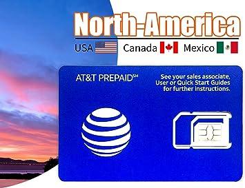 Tarjeta SIM prepagada AT&T para Estados Unidos Canadá y ...