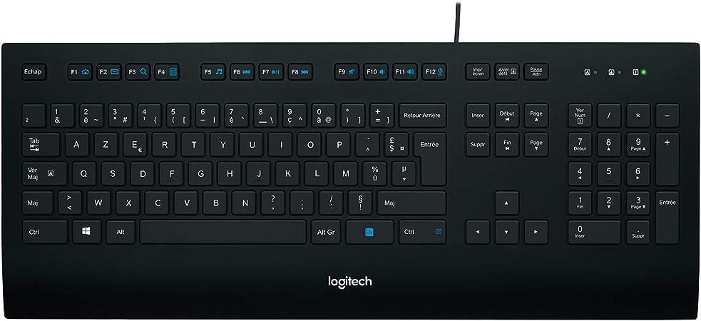 Logitech K280e Pro Teclado Inalámbrico para Windows, Linux, Chrome, Disposición QWERTY Italiano, Negro