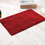 Double-sided thick absorbent mats thick chenille living room floor mat anti-slip bathroom rugs 47 x 66 inch approx Review