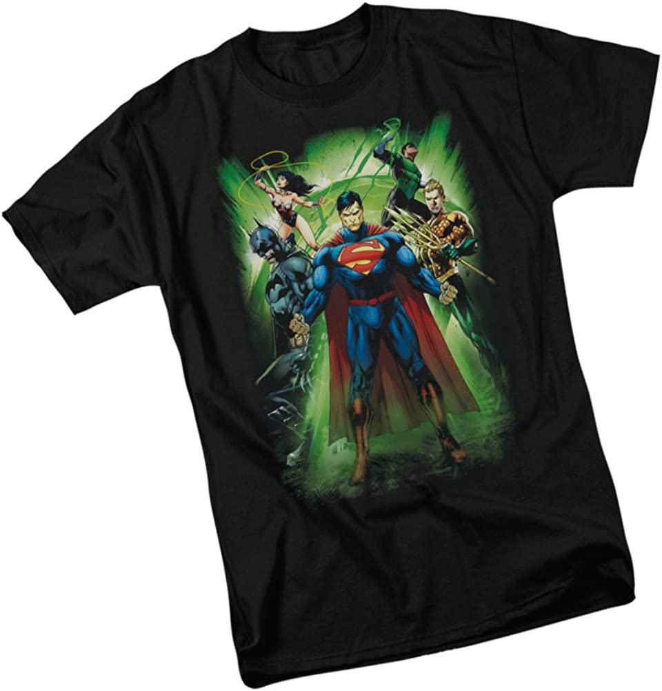 Justice League Battle Ready DC Comics Licensed Adult T Shirt