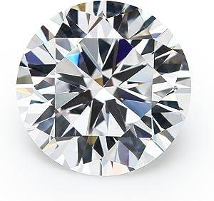100PCS 5A Round Machine Cut White Cubic Zirconia Stones Loose CZ Stones JIANGYUANGEMS (6.0mm)