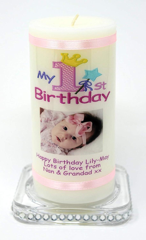 Cellini candles Vela de cumpleaños para niña con globos ...