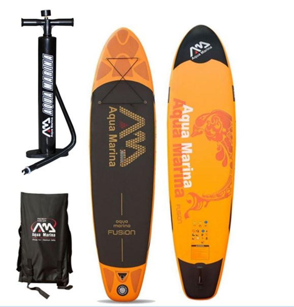 Aqua Marina Fusion Tabla SUP de paddle surf, hinchable, incluye remo, modelo de 2016: Amazon.es: Deportes y aire libre