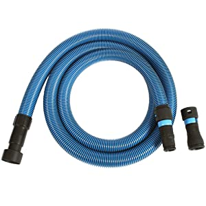 Cen-Tec Systems 94511 10 Ft. Antistatic Wet/Dry Vacuum Hose for Shop Vacs with Universal Power Tool Adapter Set, Blue
