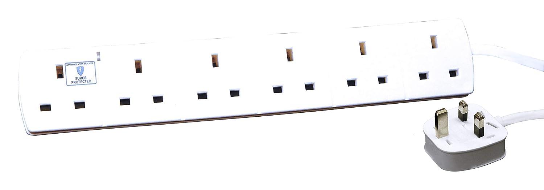 6 Socket, 2m Surge Extension Lead Rolson 60048