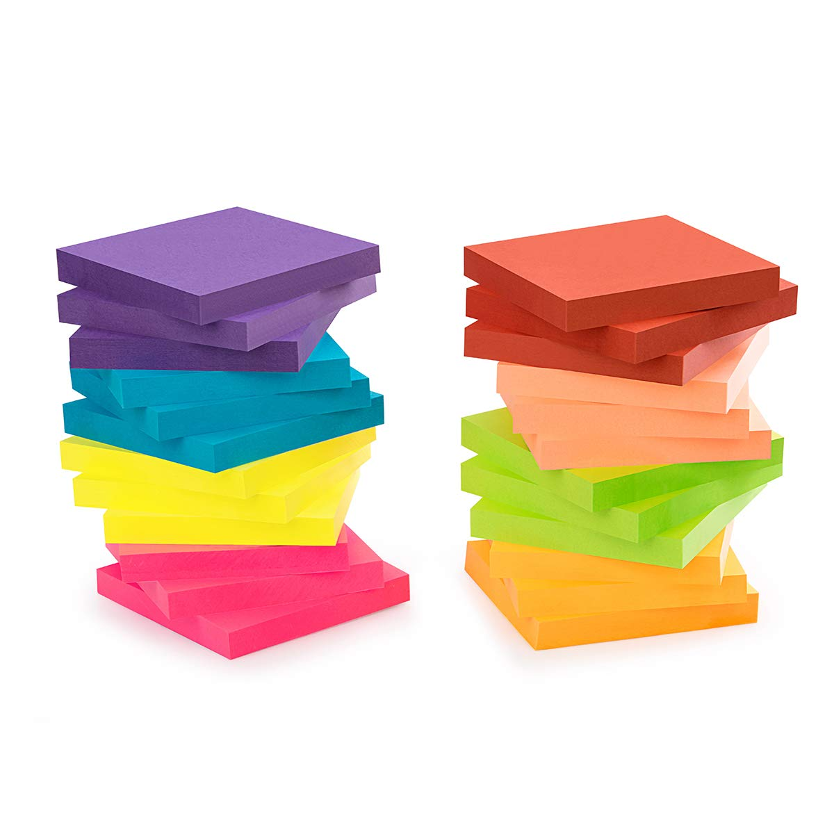 ZCZN 8 Bright Color Sticky Notes,3 x 3 in,24 Pads/Pack,100 Sheets/Pad,Self-Sticky Notes by ZCZN