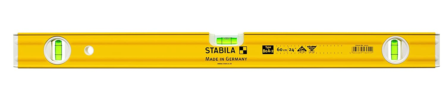 Stabila Type80A 24-inch/60cm Double Plumb Spirit Level STB80AN-2-60 Hand Tools LEVEL SPIRIT Levels