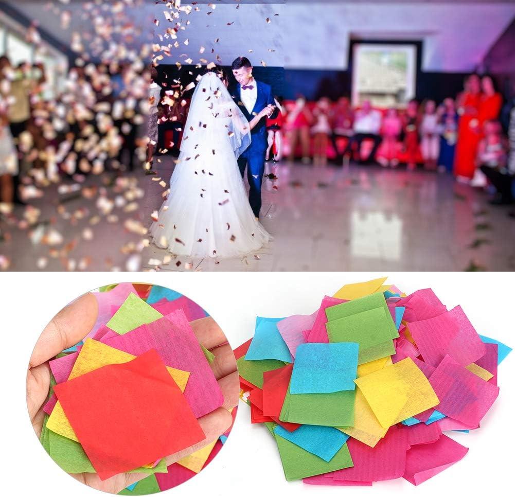 50g Mixed Squares Coloured Paper Scraps DecorationSquares Colorful Confetti for Craft and Art DIY Project Square Paper Confetti 2.5/×2.5cm