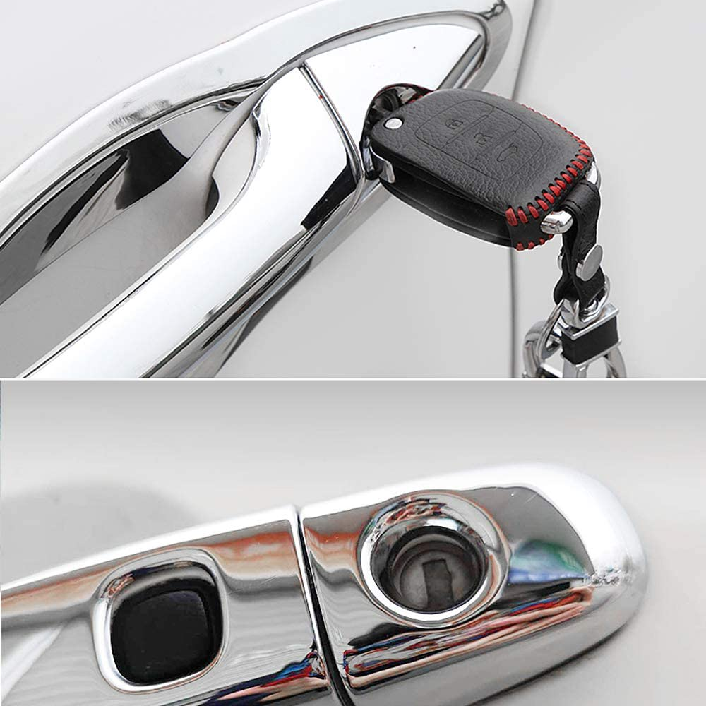 For Lacetti J200 Facelift 2007~2013 Chrome Door Handle Cover Car Accessories Stickers Trim Set 2008 2010 2012 QSONGL For Chevrolet Nubira