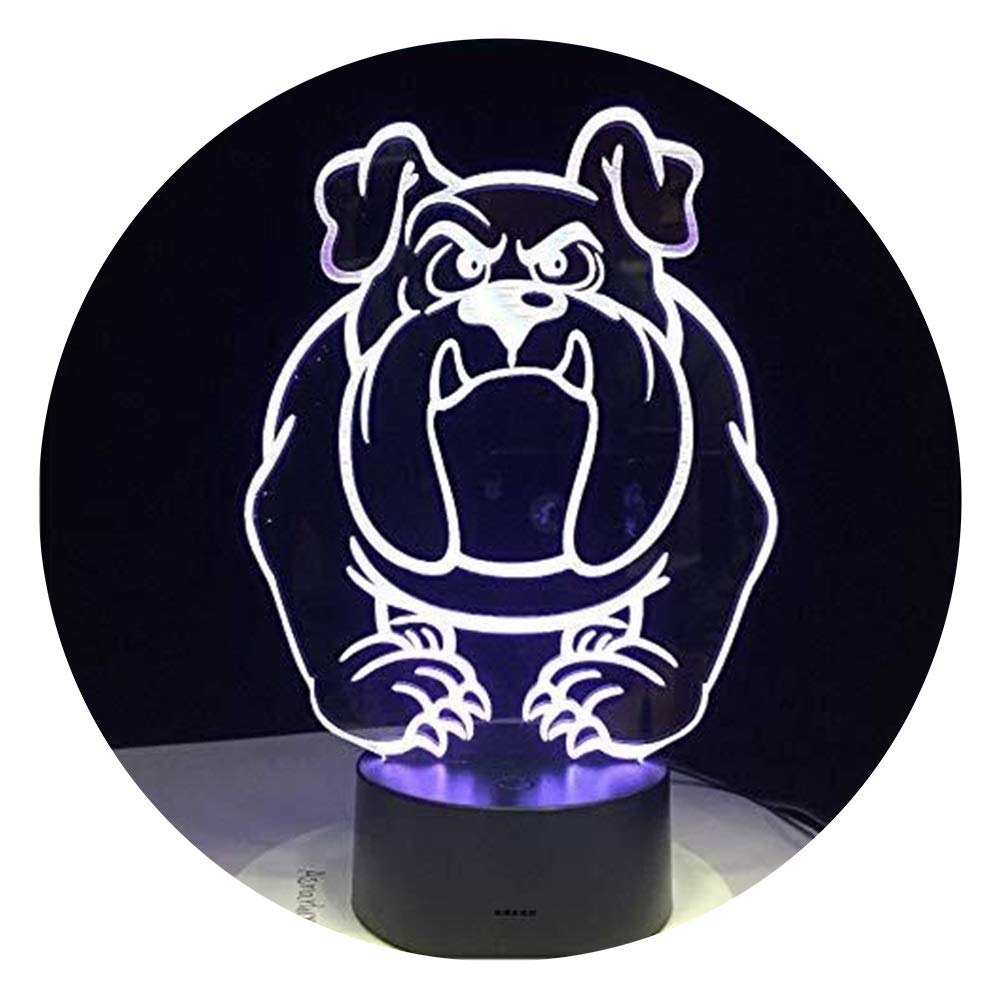 JINXUXIONGDI Visual Stereo Vision 3D Cute Dog Night Light LED Light Usb7 Color Touch Light Bedroom Light Atmosphere Decoration Puppy Light Novelty Gift Children's Decoration
